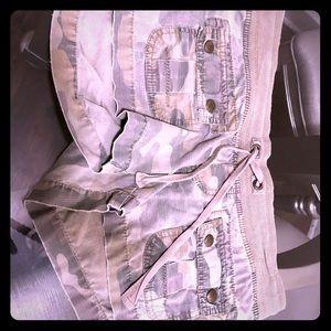 Short shorts hip huggers camo shorts size 10